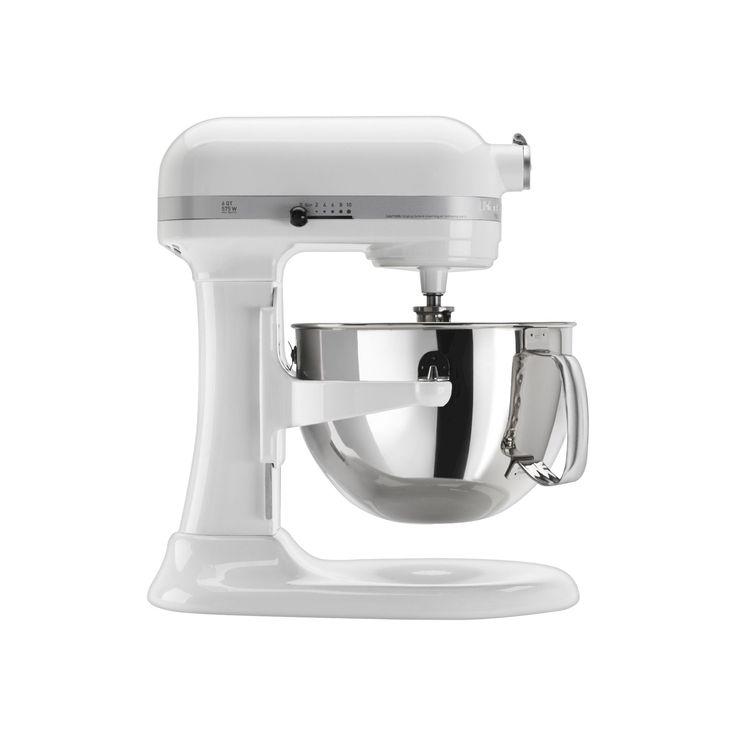 KitchenAid Professional 600 Series 6-Quart Bowl-Lift Stand Mixer - KP26M1X, White