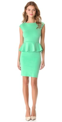 alice + olivia Victoria Peplum Dress | SHOPBOP