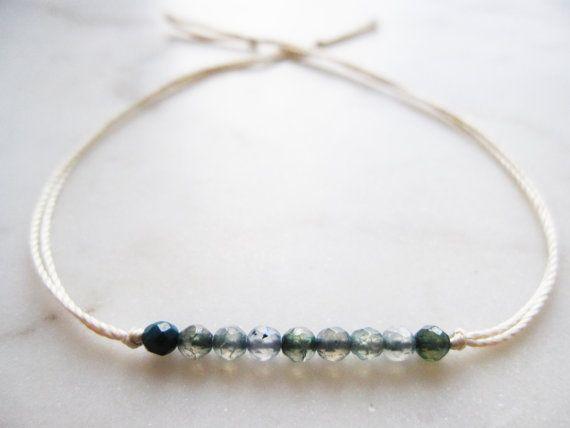 Friendship bracelet//silk friendship bracelet by TheHumbleRing