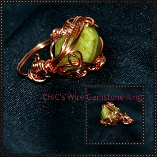 Wire wrapping stone ring