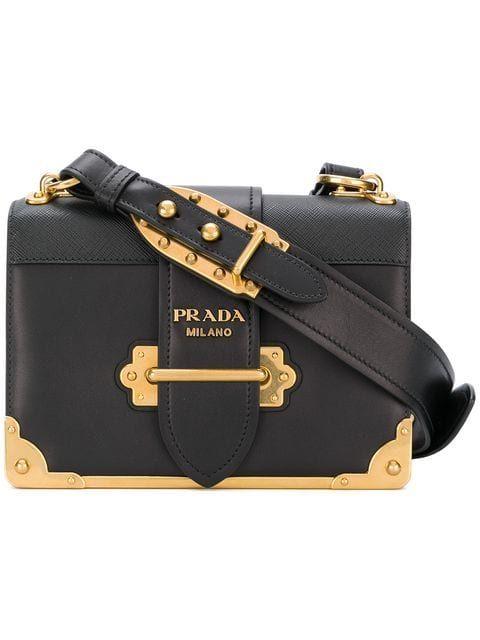 9f403ce12171 Prada Black Cahier Leather Shoulder Bag en 2019 | American eagle outfitters  | Bolsos cartera, Bolsos y Bolso joya