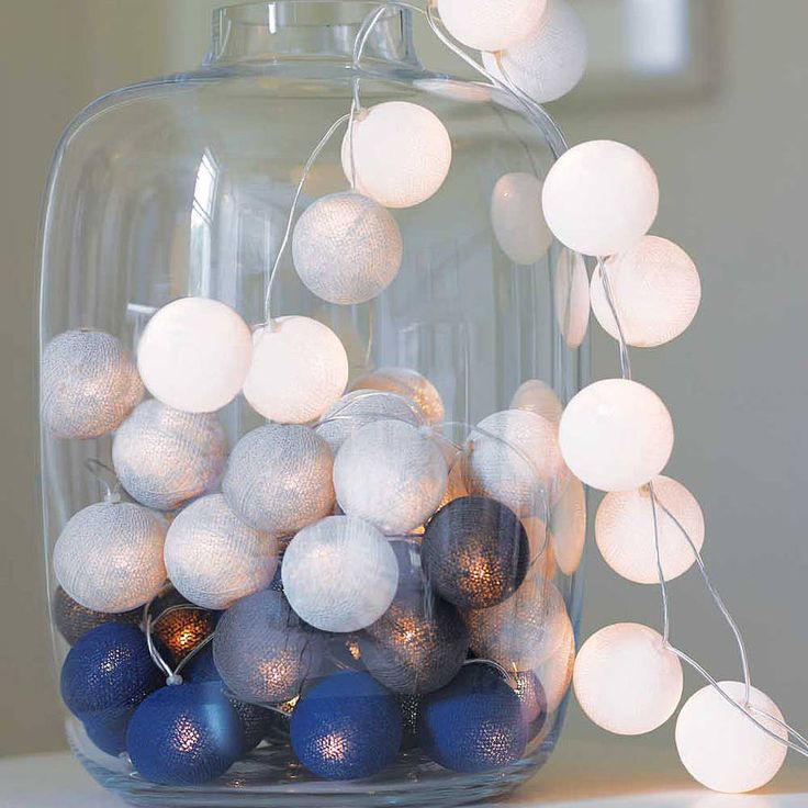 Choose your own colours for these Multi Coloured Cotton Ball String Lights, then place them in a jar or large bowl to create a statement piece