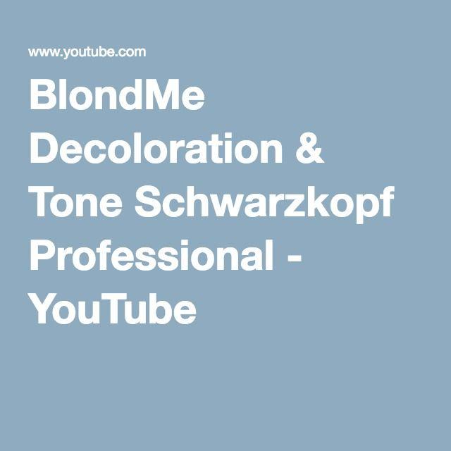 BlondMe Decoloration & Tone Schwarzkopf Professional - YouTube