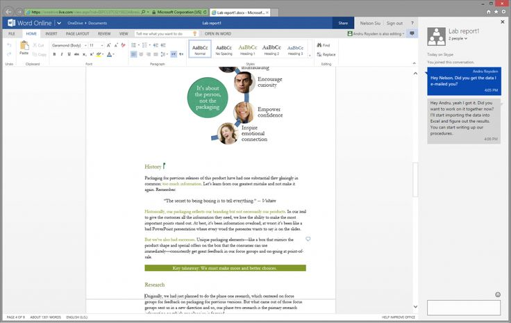 Introducing Skype document chat in Office Online