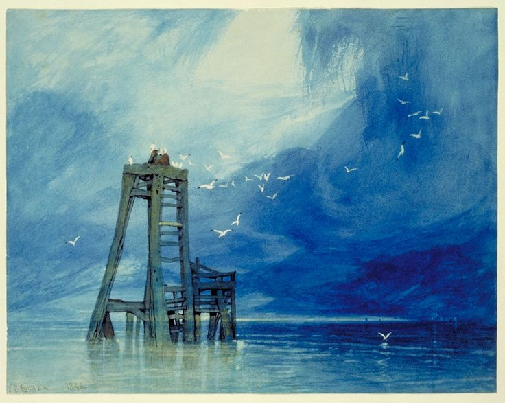 JOHN SELL COTMAN   WATERCOLOR Excursions in the county of Norfolk