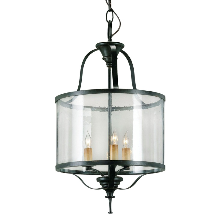 Wrought Iron And Glass Lantern By Currey Company