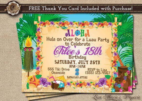 Best 25 Hawaiian invitations ideas on Pinterest Luau party
