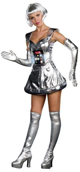 Sexy Robot A Bing Light Up Robot Costume