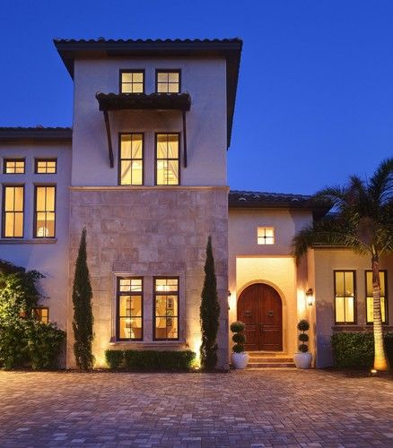 The 26 best images about home exterior paint colors on for Modern spanish style homes