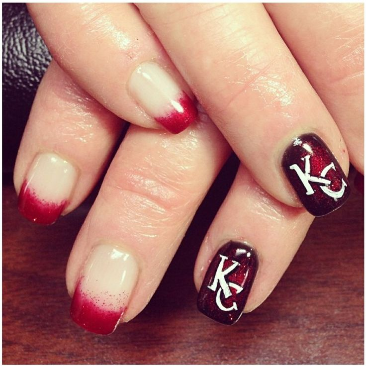 Kansas City Chiefs Nails Nails Nails Nails Pinterest