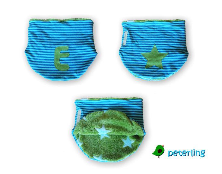 Halssocke mit Applikationen personalisiert und aufgehübscht, nach dem Schnitt von Olilu.