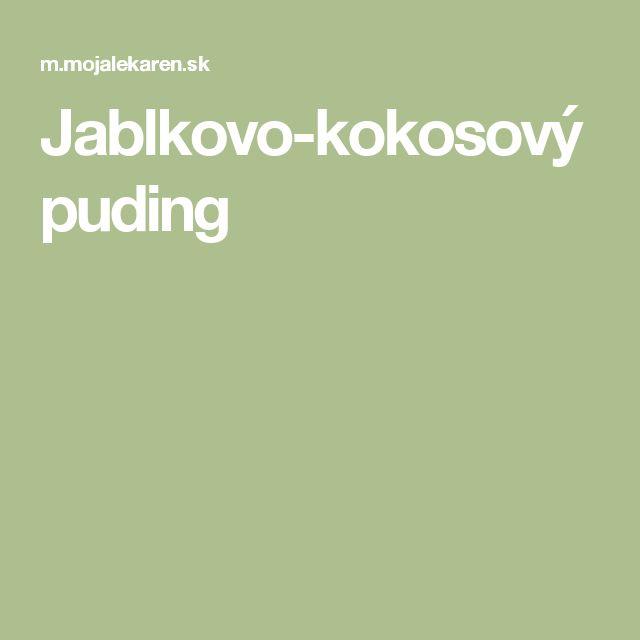 Jablkovo-kokosový puding