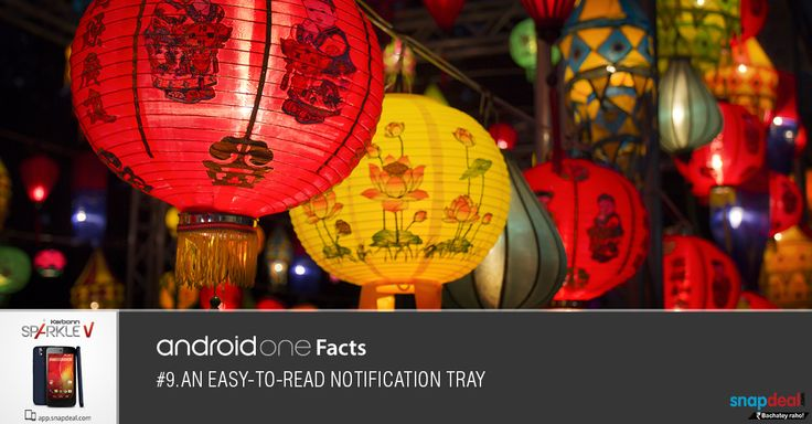 Android One Fact #9. An easy-to-read notification tray.  Get it here: http://bit.ly/-SparkleV