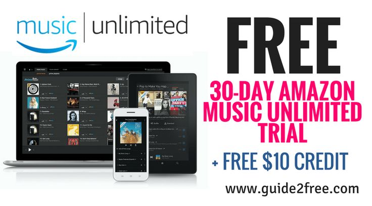 """Get aFREE 30-Day Amazon Music Unlimited Trial plus a$10 FREE Credit!! Usepromotional code 'MOREMUSIC' then select """"apply"""". Amazon Music Unlimited is an on-demand music streaming service that offers access to tens of millions of songs through the Amazon Music app and Amazon Music for Web."""