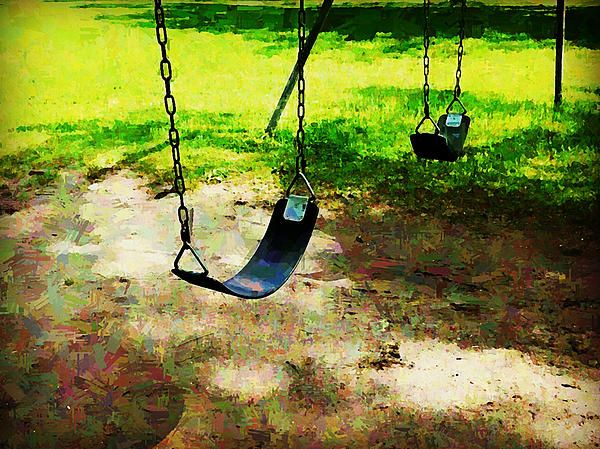 When We Were Both Kids by Zinvolle - Photo taken at Central Island, Toronto. Swings always remind me of childhood. Still love sitting on it, thinking about the good old days.