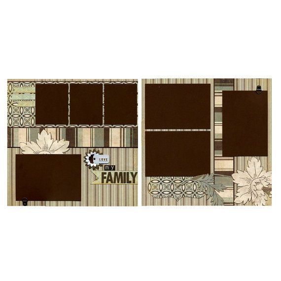 Love My Family  Premade Scrapbook Page Set by SusansScrapbookShack, $27.95