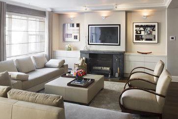 Annie Hanson I modern black stone fireplace I Living Room   new : Modern Living Room Design Houzz