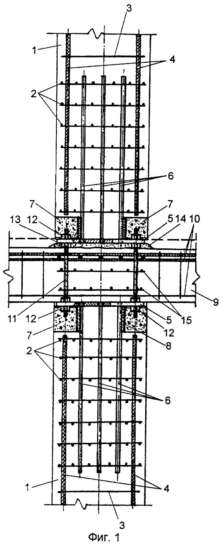 Butt-joint and method for composite columns connection with floor structure  http://russianpatents.com/patent/224/2244787.html