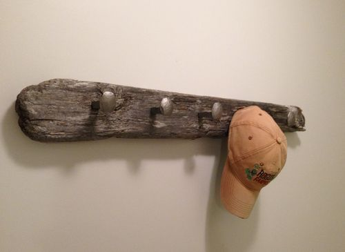 Railroad Spike Coat Rack - by Bugnurd @ LumberJocks.com ~ woodworking community