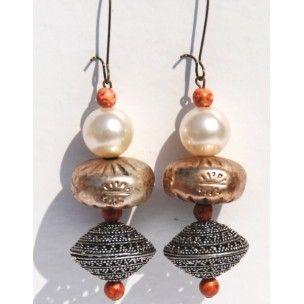 Pendientes Taj de Mercè Jo #art #handmade #earrings
