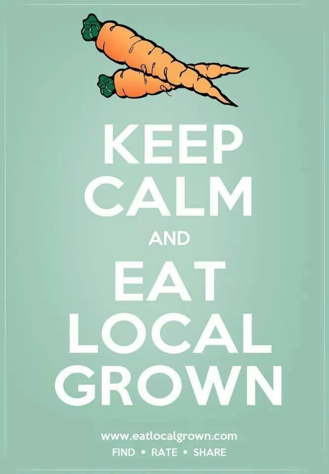 Eat locally grown