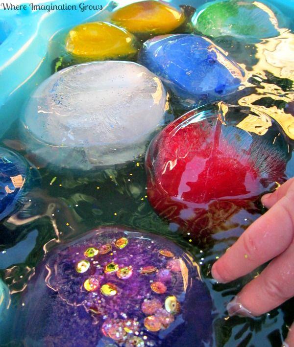 Glittery Frozen Water Balloon Summer Fun