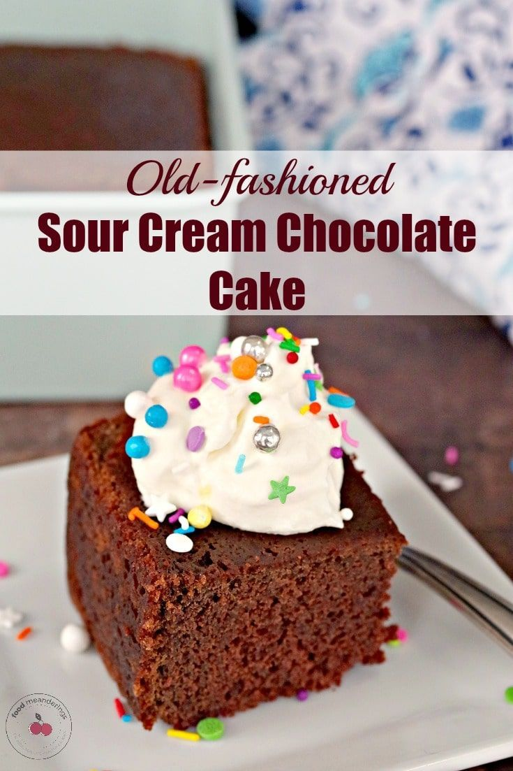 Old Fashioned Sour Cream Chocolate Fudge Cake Recipe In 2020 Sour Cream Chocolate Cake Chocolate Fudge Cake Sour Cream Cake
