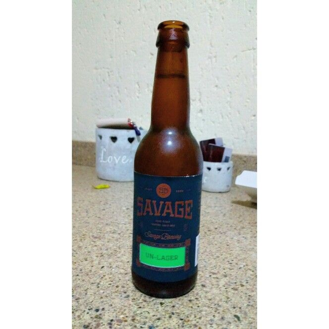 #CRAFTbeer Savage Brewery - Un - Larger. This is a new kid on the Capetonian block and they have a few things to learn. Good effort boys but you not there yet.