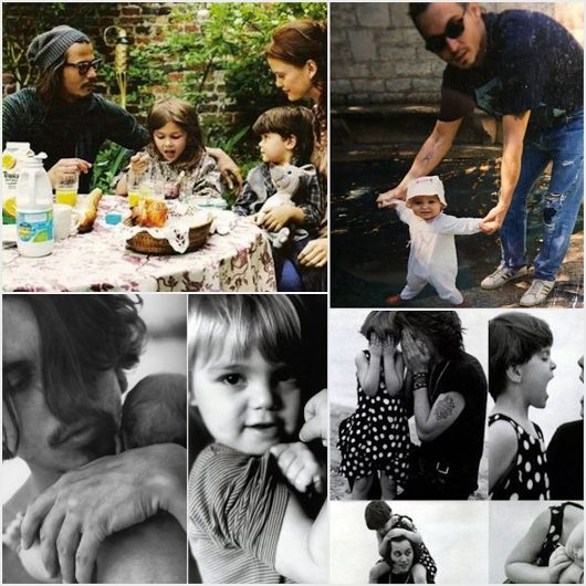 Johnny Depp and his children, Jack and Lily Rose #johnnydepp #johnnydeppchildren #vanessaparadis #johnnydeppfamily