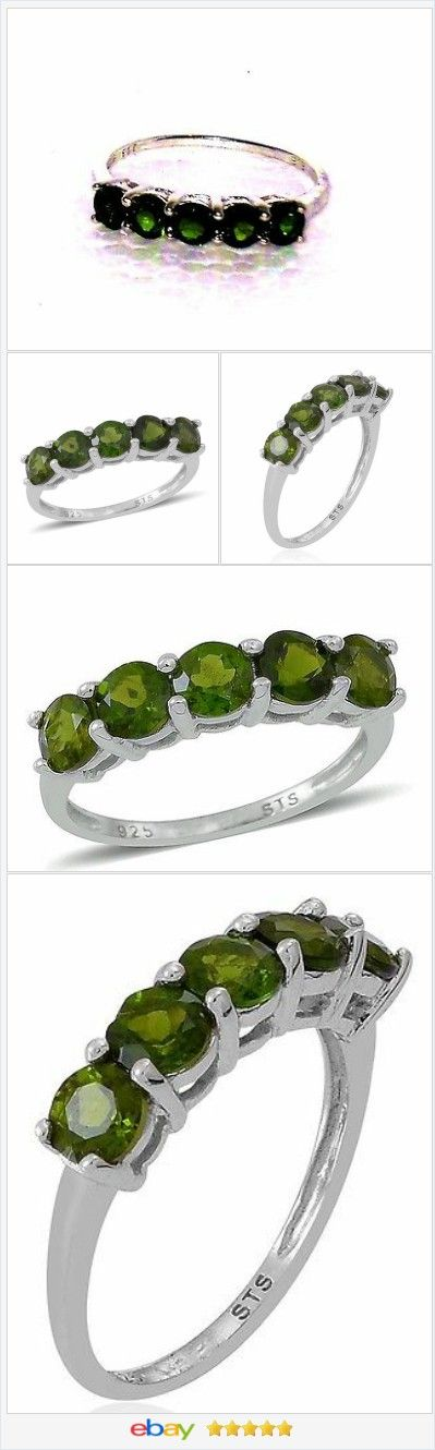 Russian Chrome Diopside ring 1.75 ct size 7 Sterling USA SELLER  | eBay  50% OFF #EBAY http://stores.ebay.com/JEWELRY-AND-GIFTS-BY-ALICE-AND-ANN