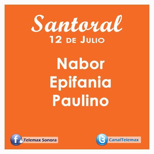 Santoral 12 de Julio