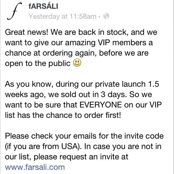 Farsali coupon code