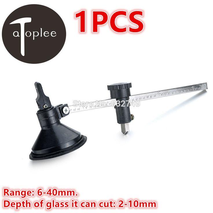 1 pcs 6-40mm Gamme Verre Outils De Coupe Compas Glass Cutter Cercle Avec Ventouse Tasse Cercle En Verre bouteille Coupe
