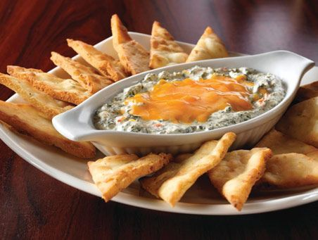 Kelseys Four Cheese Spinach Dip