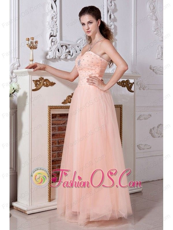 10 best 2013 Halter Ruffled Peach Custom-made Prom Dresses images on ...