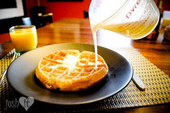How to modify Bisquick to get the worlds best waffles from Josh Loves It.  I made these this morning and the really are the best waffles ever!  I added 1 tsp vanilla and 1 tsp cinnamon... you have to try these!