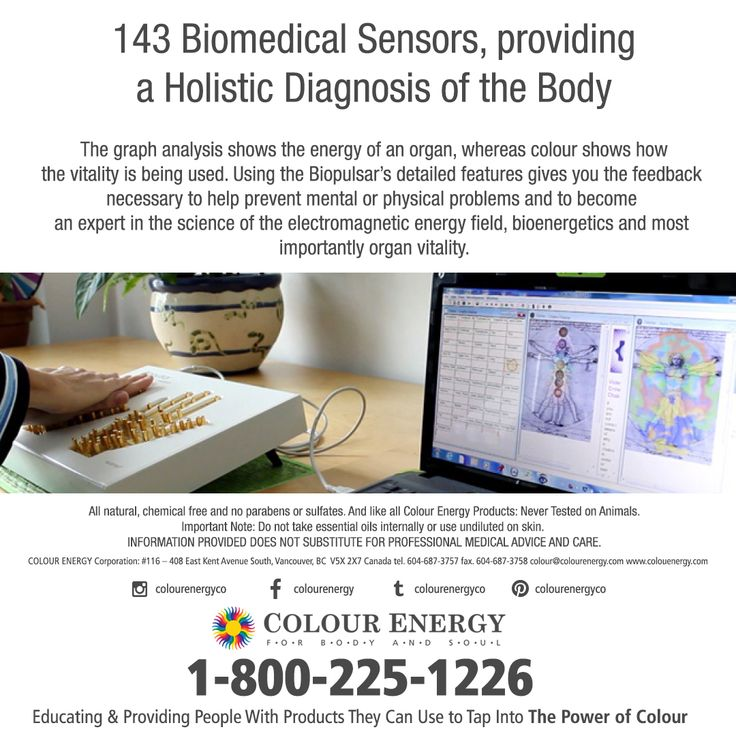 Biopulsar Reflexograph 143 Biomedical Sensors, providing a Holistic Diagnosis of the Body: The graph analysis shows the energy of an organ, whereas colour shows howthe vitality is being used.  2-Day Course January 29-30, 2018 Call 1-800-225-1226 x511 to register #colourenergy