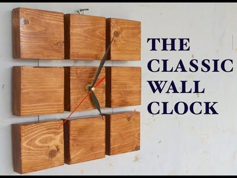 The DIY Classic Wall Clock - YouTube
