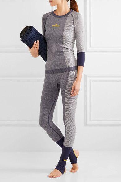 Adidas by Stella McCartney - Climalite Stretch-jersey Top - Navy - x small