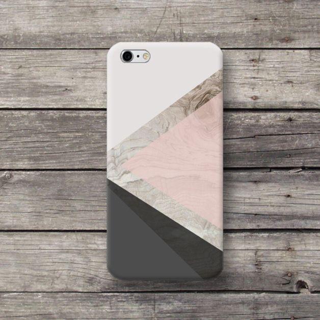 Handytaschen - Geometrisch Grau Farbe iPhone 4 5 5c 6 Hülle Case - ein Designerstück von michaelcase bei DaWanda