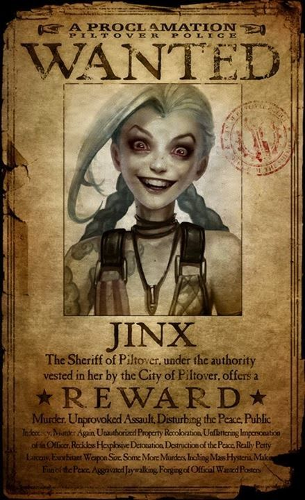 Mal it's female jinx straight up. From LOL