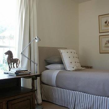 Twin Striped Headboard, Cottage, boy's room, Adelaide Bragg