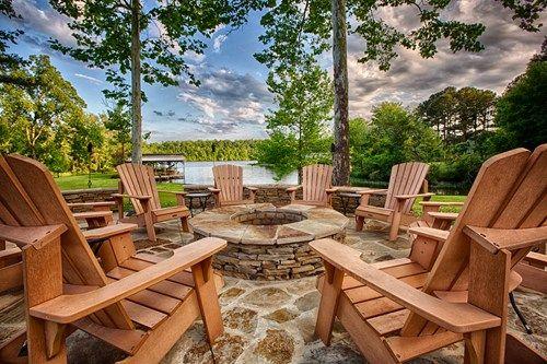 Flagstone, Fire Pit, Lake View - Proscape Inc. in Tuscaloosa, AL