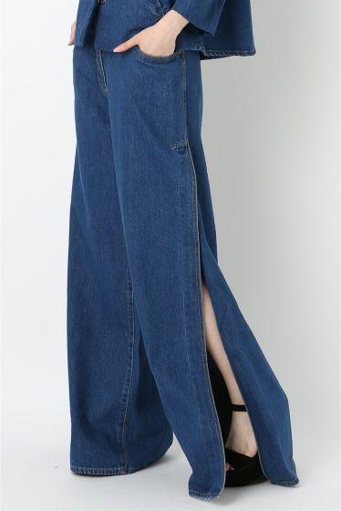 Broad bottom.. Side slit.. Pants ❤