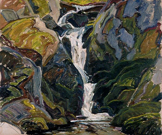 Waterfalls on the Way into Nellie Lake By Franklin Carmichael