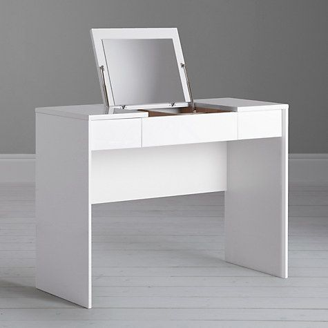 Buy John Lewis Napoli Gloss Dressing Table, White Online at johnlewis.com