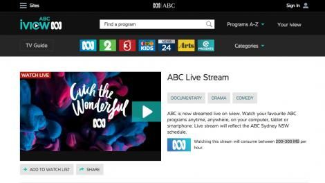 nice You can now watch ABC on ABC iview all the time