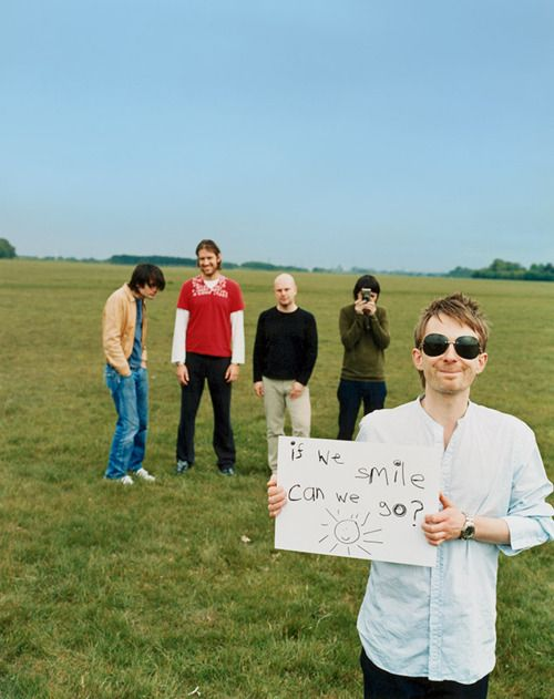 Radiohead. I love this band, And love this picture.                                                                                                                                                     More