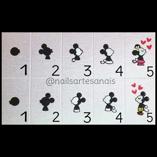Foto tutorial do casal mais amado , Mickey&Minnie.
