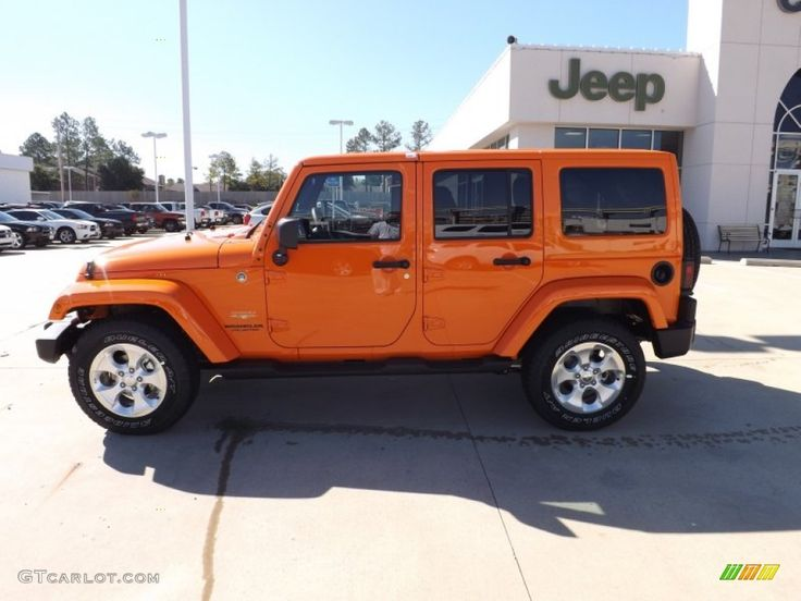 2013 Jeep Wrangler orange | 2013 Jeep Wrangler Unlimited Sahara 4x4 - Crush Orange Color / Black ...